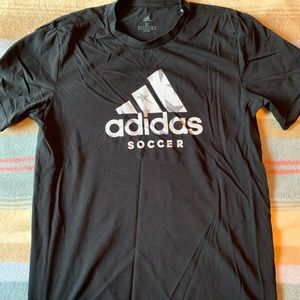 Mens Black Adidas Soccer Shirt